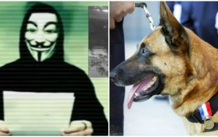 Anonymous are taking revenge on ISIS for the French police dog killed in Paris raid