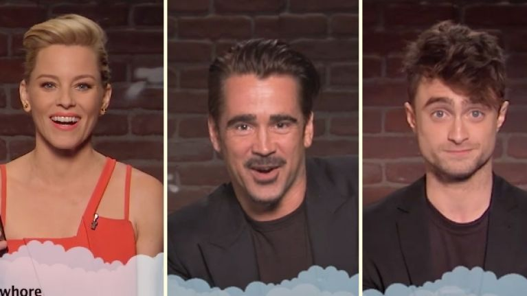 Colin Farrell, Daniel Radcliffe and more read Mean Tweets on Jimmy Kimmel (Video)