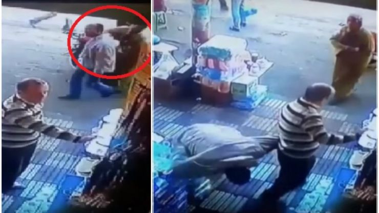 This Moroccan woman floors man with a big right hand for trying to pinch her bum (Video)