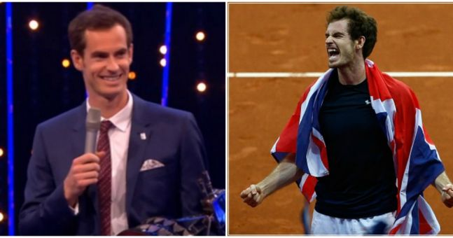Andy Murray cracks an actual joke on winning BBC Sports Personality of the Year (Video)