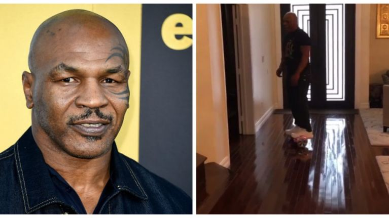 VIDEO: Not even 'Iron' Mike Tyson is safe from hoverboard fails