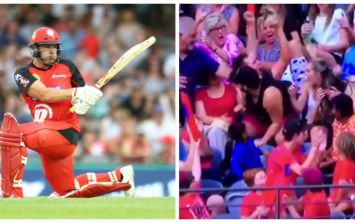 VIDEO: Cricket fan pulls off the catch of the century