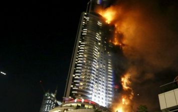 This is the damage done to the Dubai hotel that set on fire on New Year's Eve