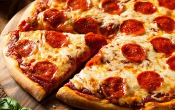 PIC: This pizza almost set a man back £11,000