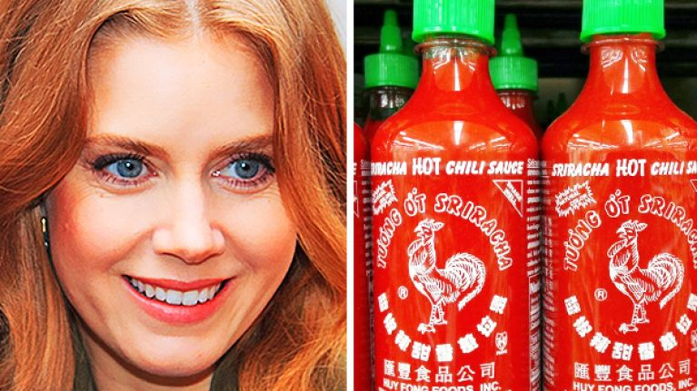 Amy Adams loves Sriracha sauce more than you