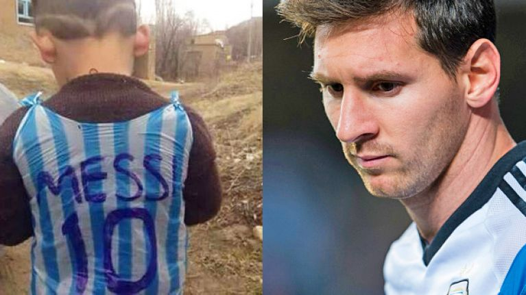 4426bc22a The world (and reportedly Lionel Messi) want to find impoverished child  wearing plastic bag
