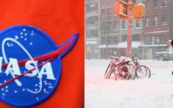 PIC: Stunning images from space of the blizzard that's covering the East Coast of the USA