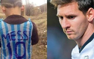The mystery of the youngster in the plastic bag Messi shirt has been solved - we think