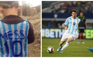 Reports: Lionel Messi is set to meet the Afghan child with the plastic bag Argentina kit