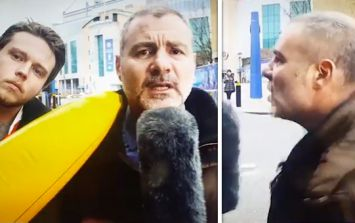 VIDEO: Italian deadline day report interrupted by giant inflatable...but the reporter fights back