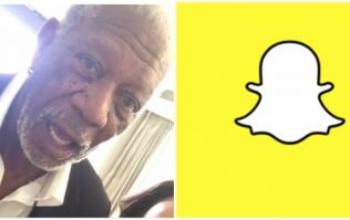 Morgan Freeman's first ever Snapchat didn't go too well (Video)
