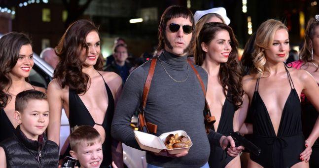 Sacha Baron Cohen as 'Nobby' arrives wearing blue pants ... Sacha Baron Cohen Spouse