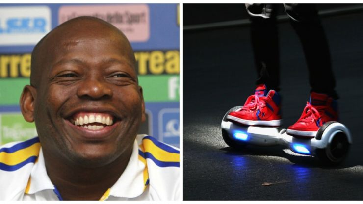 VIDEO: Oh, this? It's just Tino Asprilla on a hoverboard in a dinosaur costume