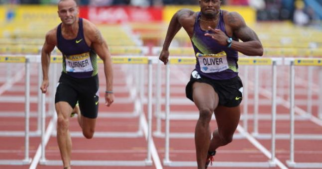 PICS: Former Olympic hurdler looks unrecognisable in his new guise as a bodybuilder