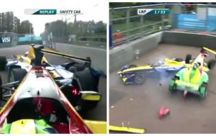 This early crash led to an utterly bizarre finish in the Formula E in London