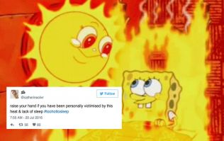 This #toohottosleep hashtag literally sums up everyone's struggle last night