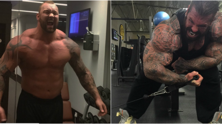 This is what happened when The Mountain trained with one of the world's biggest bodybuilders