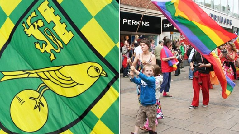 Norwich City have the perfect reply to someone questioning their support for Pride