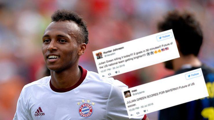Fans lose their shit as American striker scores first-half hat-trick for Bayern Munich