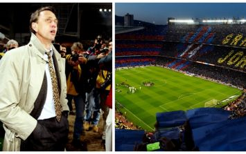 Barcelona paid an incredible tribute to Johan Cruyff before El Clasico