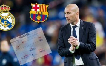 Zinedine Zidane's El Clasico tactics sheet appears to have been leaked