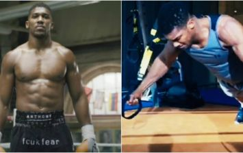 Watch Anthony Joshua in beast mode training for his world title fight