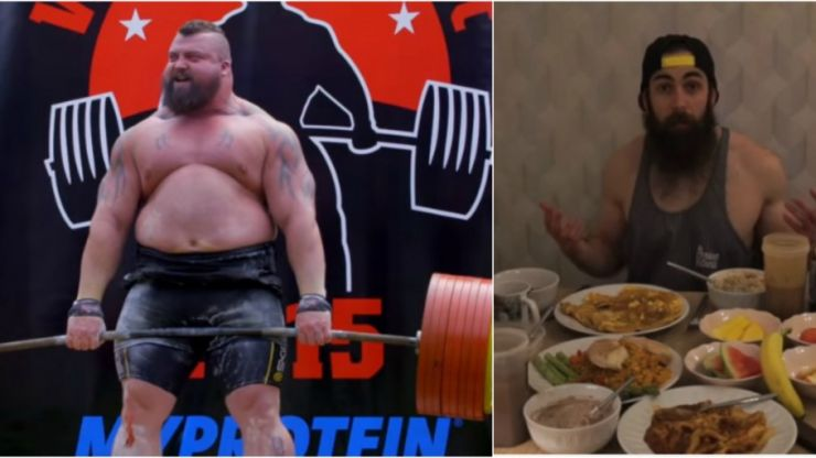 This brave man tried strongman Eddie Hall's 10,000-calorie diet in one go