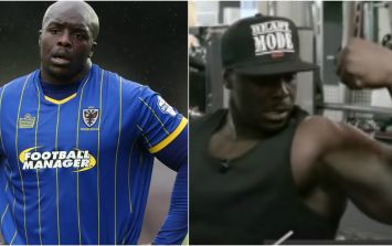 This is the proof Adebayo Akinfenwa is the world's strongest footballer