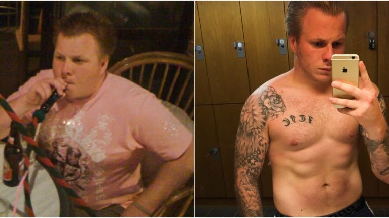 This 24-year-old lost 6-stone after a girl called him 'fat' on a night out