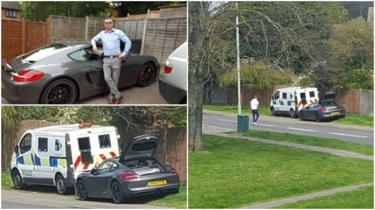 Lottery winner buys Porsche, blocks police speed camera with it, goes for a pint