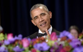 Watch Obama rip into Trump and Hillary, joke about Prince George, and then do an epic mic drop