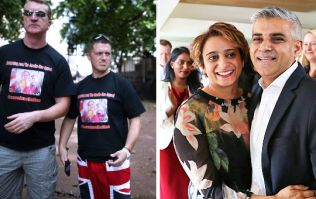 Ex-EDL leader Tommy Robinson posts fake images of Sadiq Khan's wife to fuel hatred