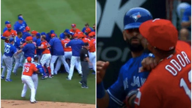 Baseball game descends into brutal brawl after player punches rival