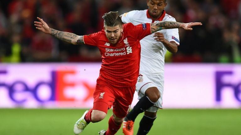 Sevilla's coach is full of praise for Liverpool's under-fire defender Alberto Moreno