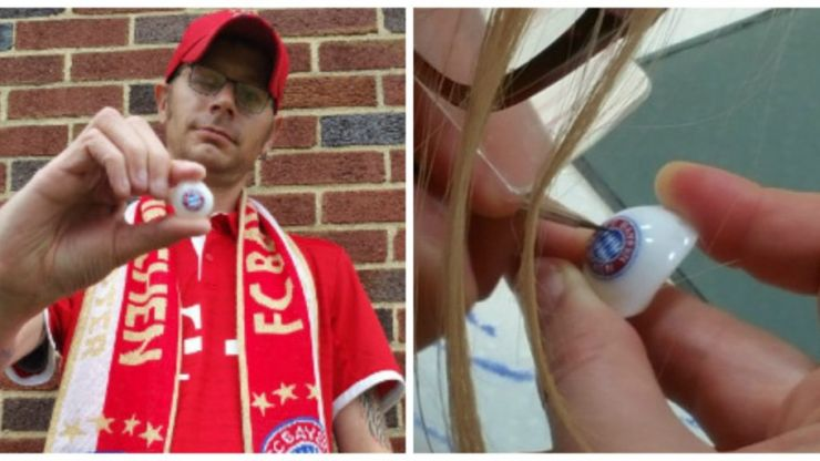 JOE meets the Bayern Munich fan with a club-branded glass eye