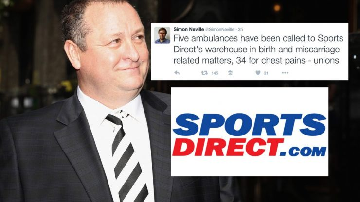 """Sports Direct warehouse staff """"docked 15 minutes pay for being one minute late"""""""