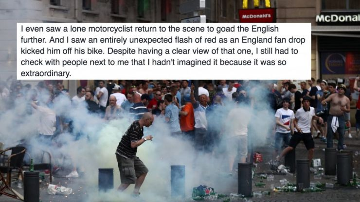 You have to read this British guy's amazing first hand account of the Marseille violence