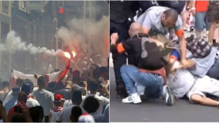 Polish ultras were hammered by police after fights broke out before the Ukraine game
