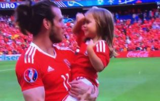 Gareth Bale's daughter completely stole the show after Wales beat Northern Ireland