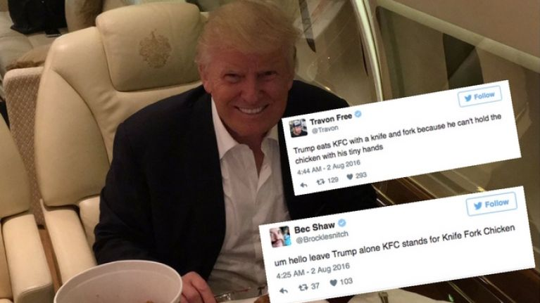 Donald Trump Eats Kfc Like A Goddamn Monster Joe