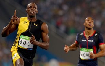 Watch as Usain Bolt wins the 100m Olympic final in style