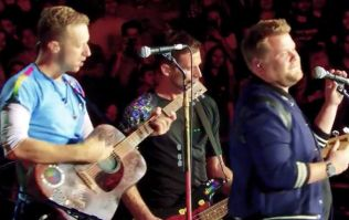 James Corden performs cover of 'Nothing Compares 2 U' with Coldplay live in LA
