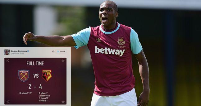 West Ham fans aren't happy with Angelo Ogbonna's strange post-match tweet