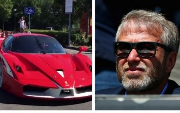 Chelsea owner Roman Abramovich shows of his £8.5m fleet of supercars for the first time