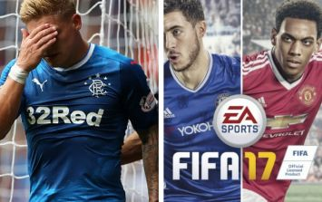 Rangers fans fuming as FIFA 17 team do Celtic's famous ritual on the game
