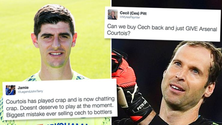 Chelsea fans turn on 'f**kboy' Courtois and admit selling Cech was a huge mistake