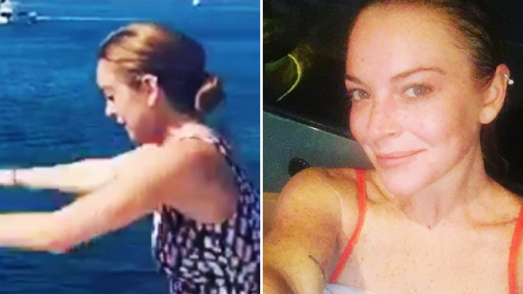 Lindsay Lohan posts first image after half her finger is ripped off in boating accident