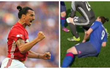 Of course you want to watch Zlatan Ibrahimovic sniffing a goalkeeper's arse on FIFA 17