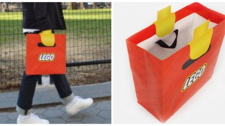 Some genius made a bag that makes you look like a LEGO man, and you ...