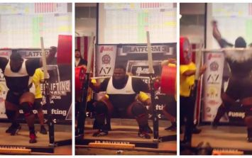 Watch this powerlifter squat more than 1,000lbs...raw